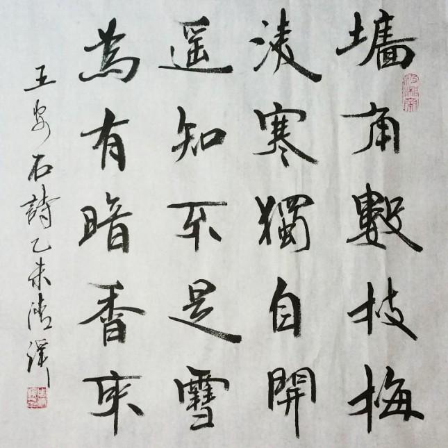 行魏斗方 五言古诗 梅花